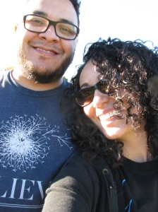 My boyfriend and I at a local pumpkin patch, Oct. 2014.