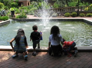 My sisters and nephews at the Botanical Garden in SC.
